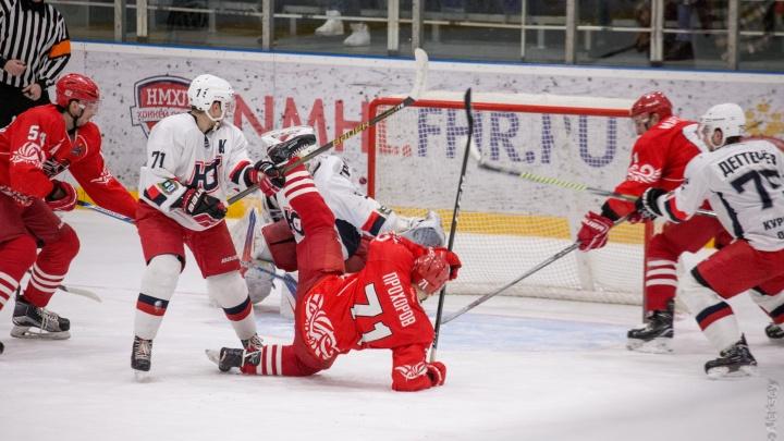 Трудная победа: в упорном поединке ХК «Ростов» обыграл «Юниор-Курган»