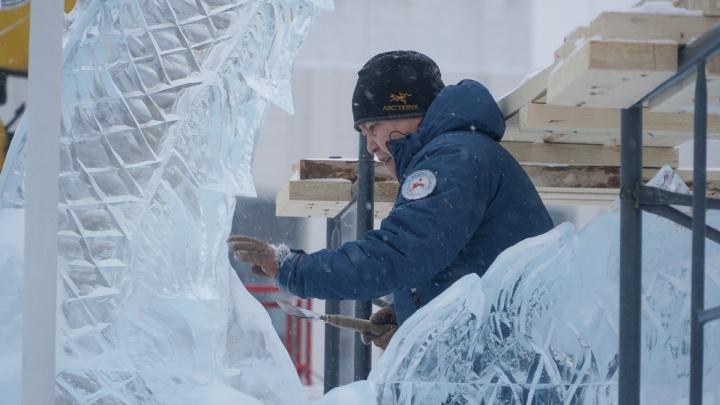 В январе перед Театром-Театром устроят выставку ледовой скульптуры