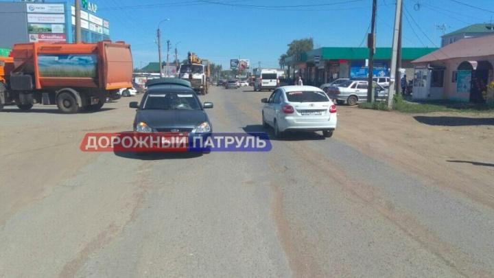 В Башкирии легковушка сбила юного велосипедиста