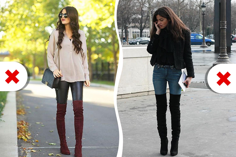 Абсолютно всем противопоказано заправлять джинсы в подобные сапоги
