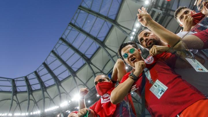 Англия — Тунис в Волгограде: топ самых ярких кадров матча на «Волгоград Арене»