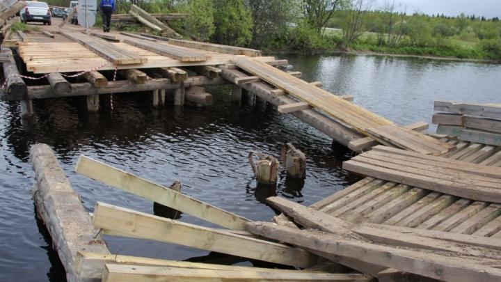 «Планируем закончить до обеда»: ремонт моста через Большую Раду подошел к концу