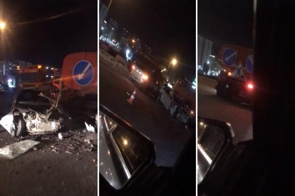 Автомобилист, угодивший в аварию, перевозил пассажиров с нарушениями