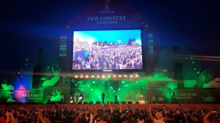 В Волгограде стартовал фанфест ЧМ-2018: болельщики отмечают победу России