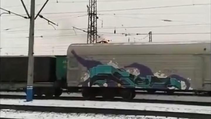 Подросток сгорел заживо на вагоне поезда