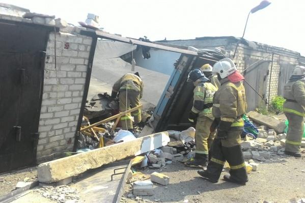 К приезду спасателей пожара в гараже не было
