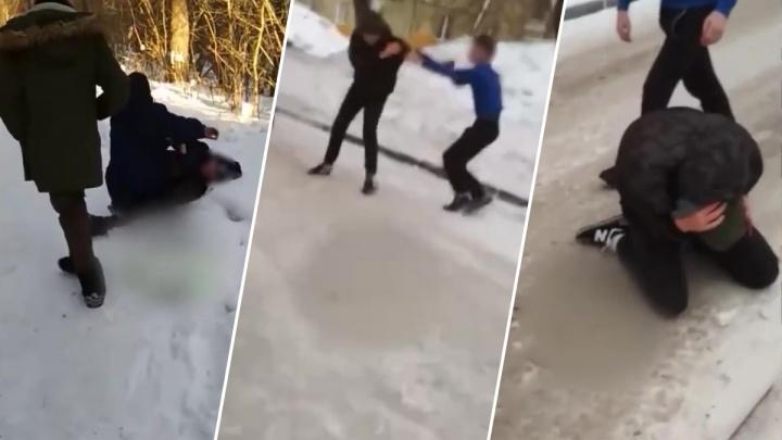 «Опрокинули на землю и пинать начали»: жителей Калининского района больше года пугает группа подростков