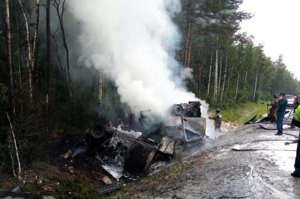 Авария произошла на трассе между Миассом и Златоустом