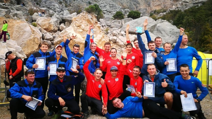 Спасатели ПСС СО завоевали победу на международных соревнованиях в Крыму