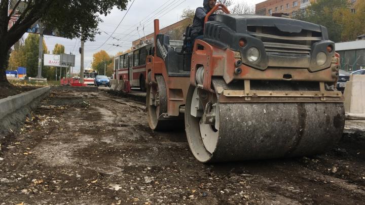 Рабочие расширили Стара-Загору для парковок автомобилистов