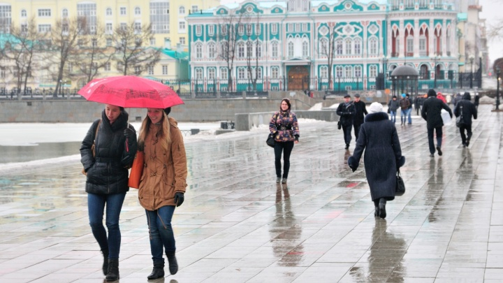 В выходные в Екатеринбурге пойдет дождь