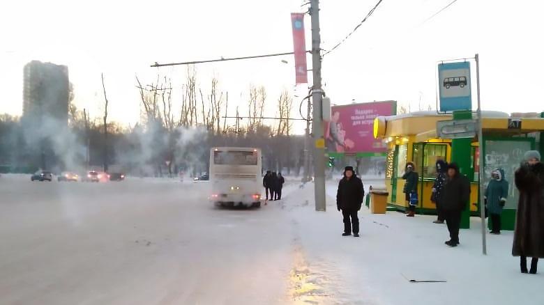 Авария случилась на остановке «Площадь Труда»