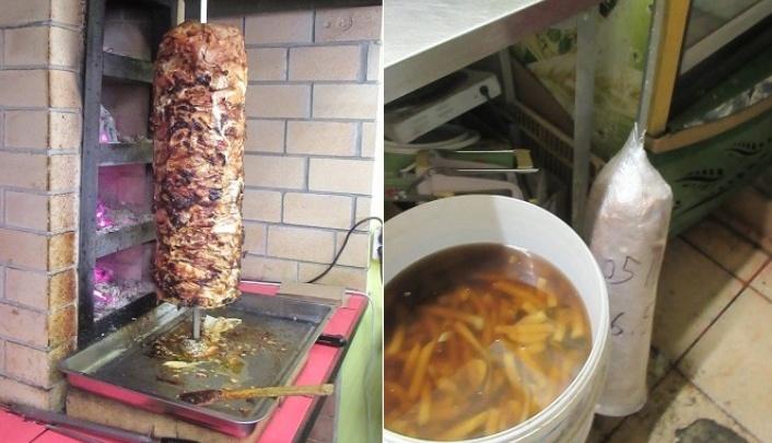 Мясо для шаурмы на проспекте Конституции в Кургане хранили на полу