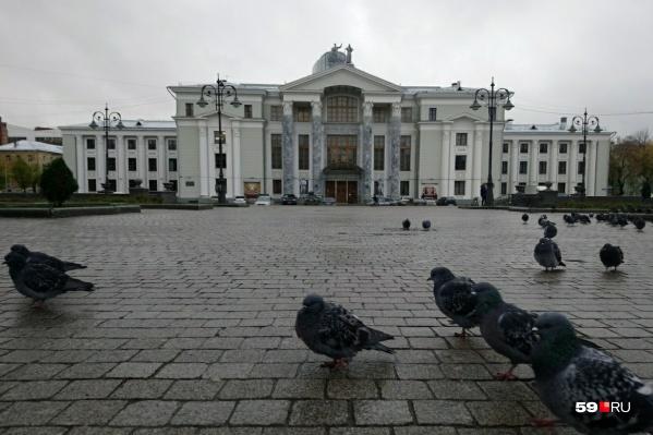 12:30. У ДК Солдатова — голубиный митинг