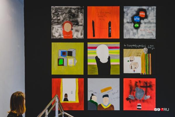 Один из циклов цветных работ Маркуса