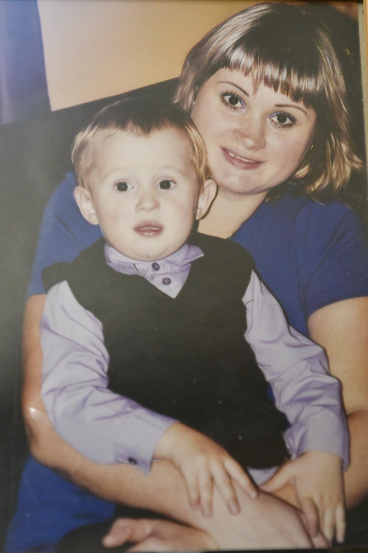 Полина с сыном Ромой