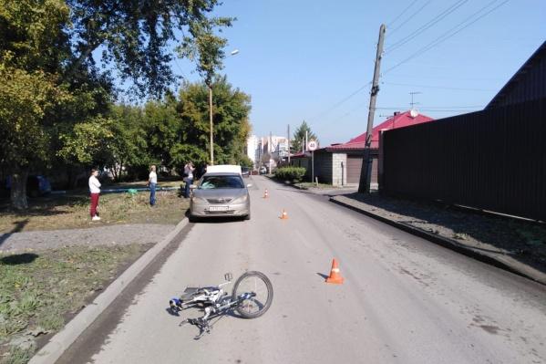 Авария случилась в 11:05 на перекрёстке с улицей Янтарной