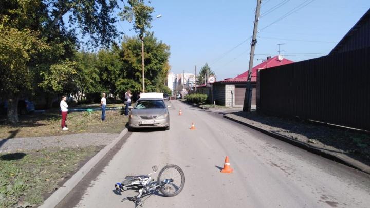 Подросток на велосипеде попал под колёса «Тойоты» в Ленинском районе