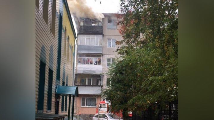 В Кургане пожарные спасли из огня пожилую женщину