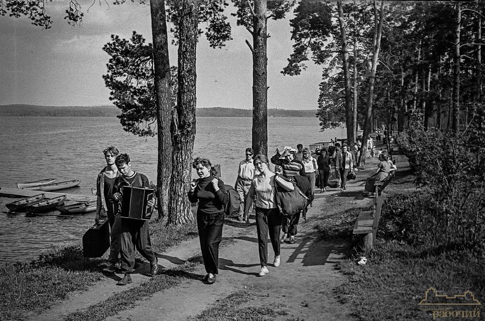 Озеро Ильменское, турбаза. Дорога на Ильменскую турбазу. 1960 год