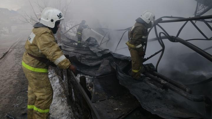 В Уфе во время пожара погибли два человека