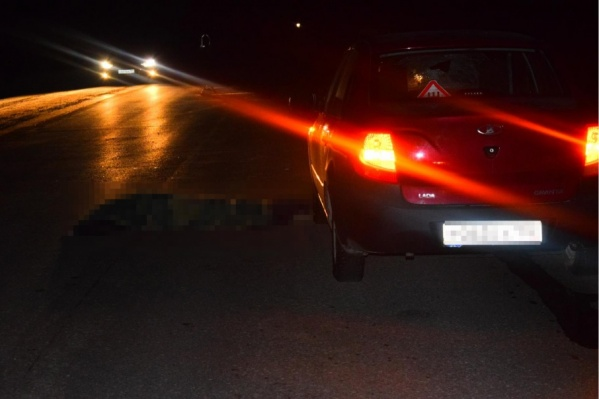 Водитель не успел затормозить перед пешеходом, появившимся из темноты
