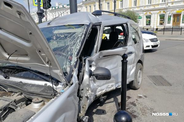 Женщина, которая стала единственной пострадавшей, находилась за рулём этого автомобиля