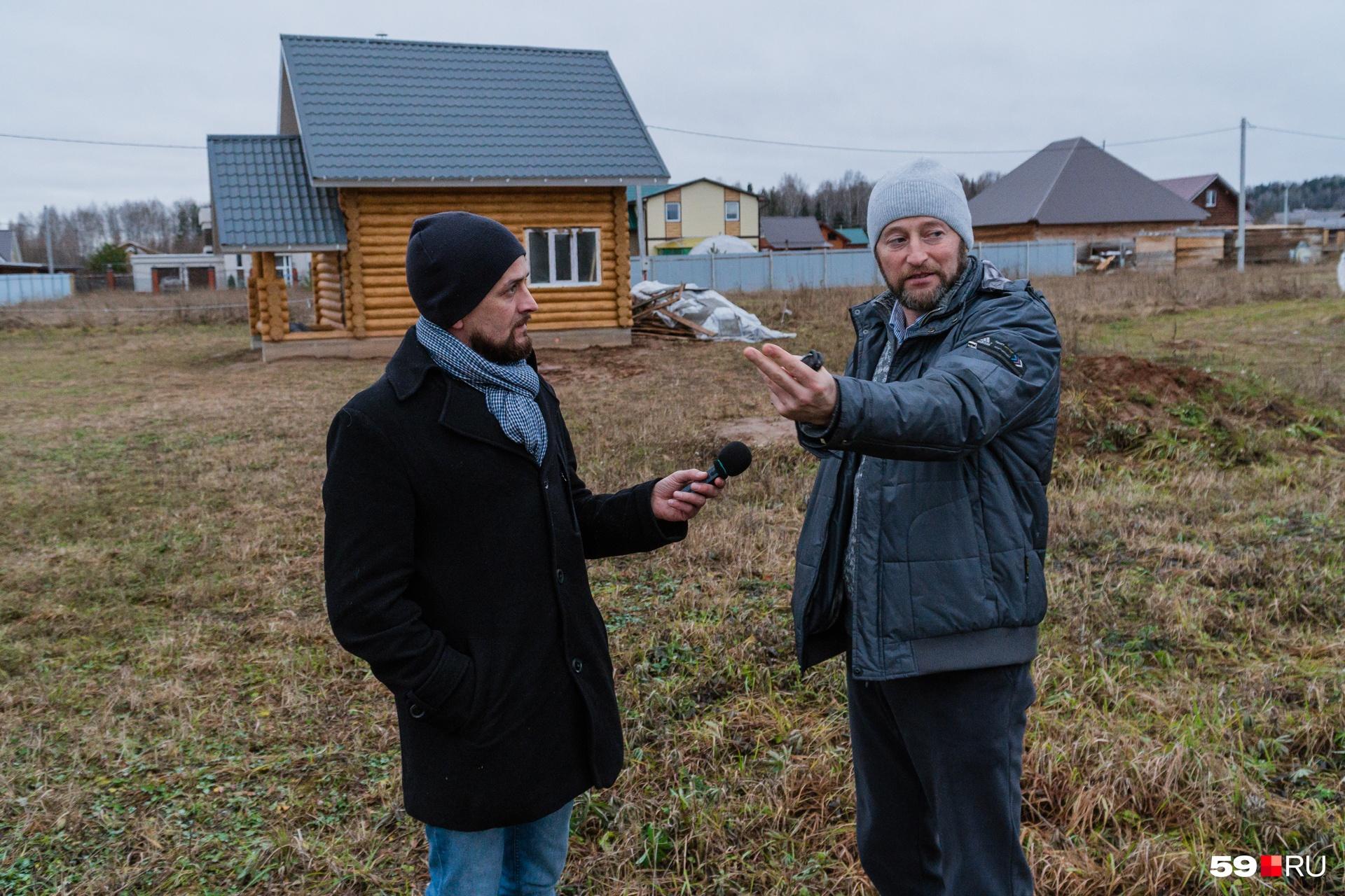 На участке Дмитрия Мельникова построена только баня