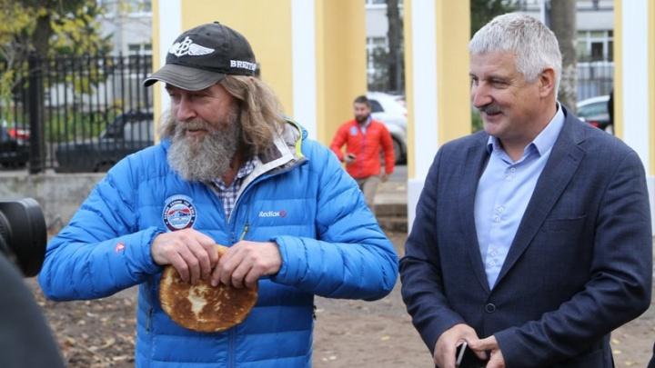 Путешественник Фёдор Конюхов приехал в Рыбинск за своей новой яхтой