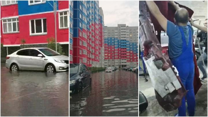 Тюменке во время урагана затопило машину, но в суд подать не на кого. Объясняем почему