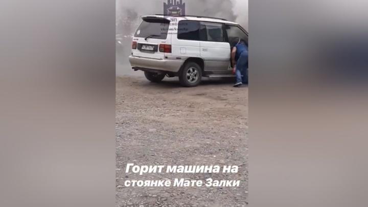 На стоянке в «Северном» загорелась Mazda