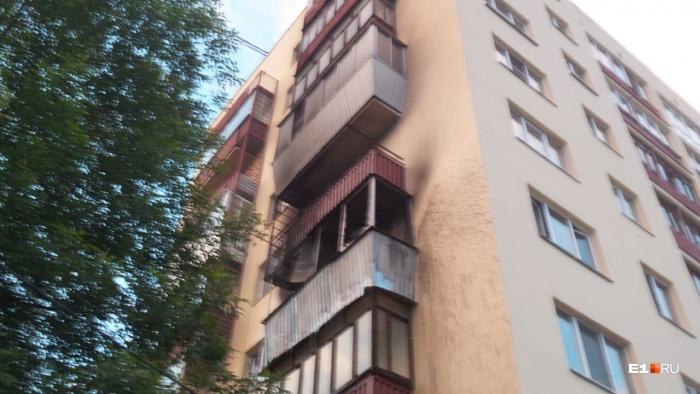 Возгорание произошло в квартире на 4-м этаже