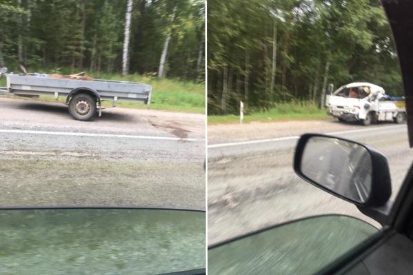 Авария случилась в 5 километрах от Колывани