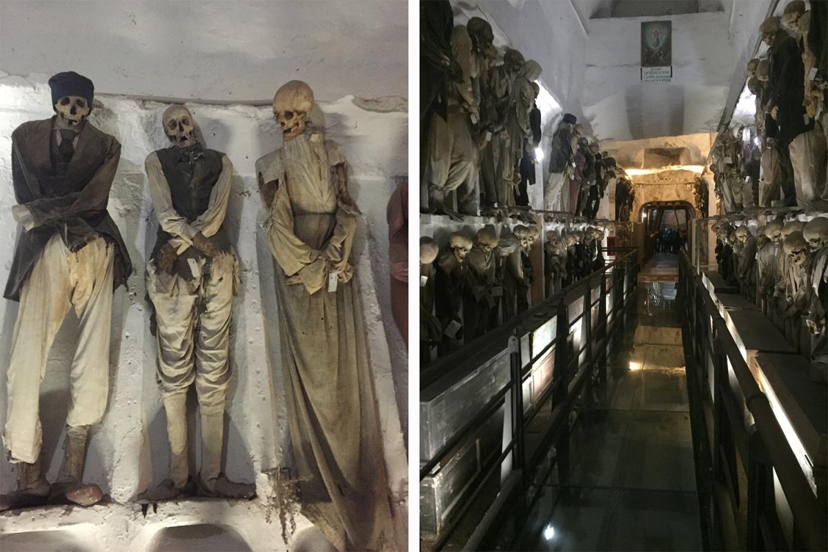 Погребальные катакомбы в Палермо, куда специально ездили сотрудники новосибирского музея