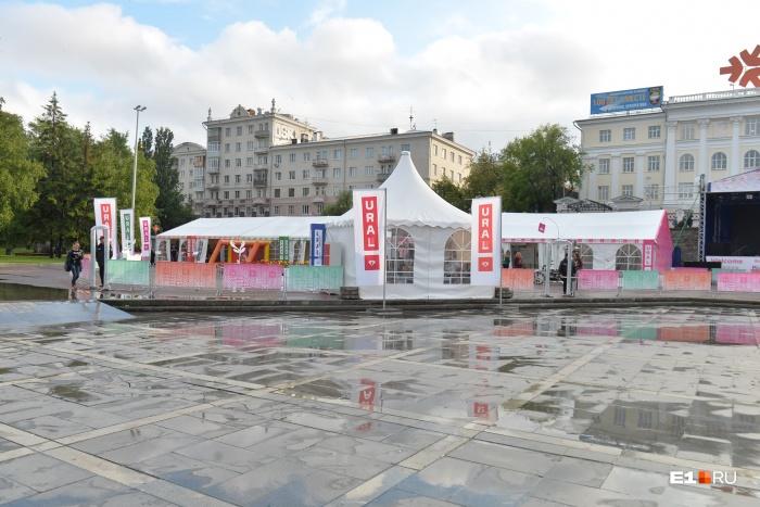 Площадка, которую поставили для гостей города, популярностью не пользуется