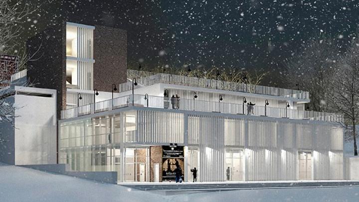 «Вот что отменил Азаров»: архитектор опубликовал эскиз нового драмтеатра с мостом в «Струкачах»
