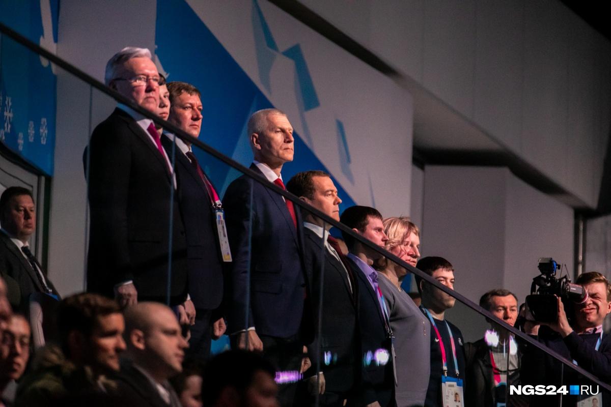 Закрывал Игры премьер Медведев, который сразу заявил: «Красноярск — столица Сибири»