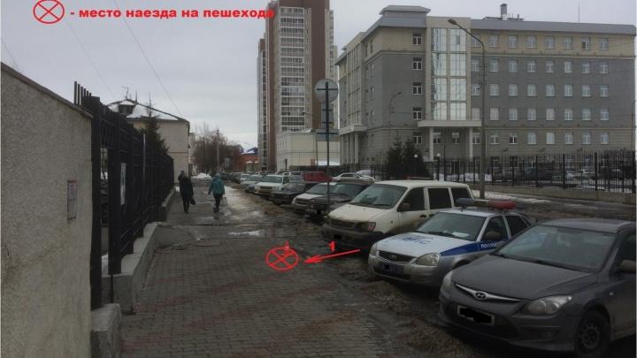 Жительницу Кургана машина сбила на тротуаре
