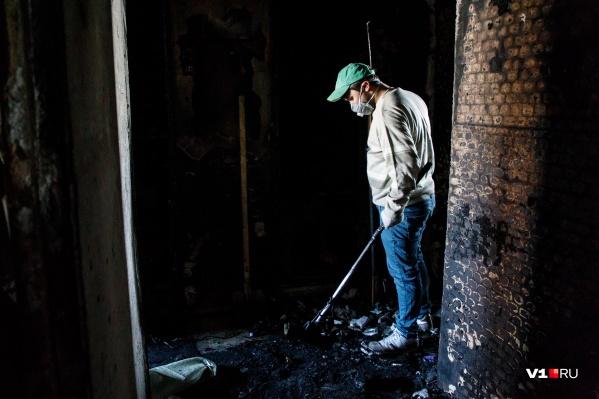 Очаг пожара находился в комнате