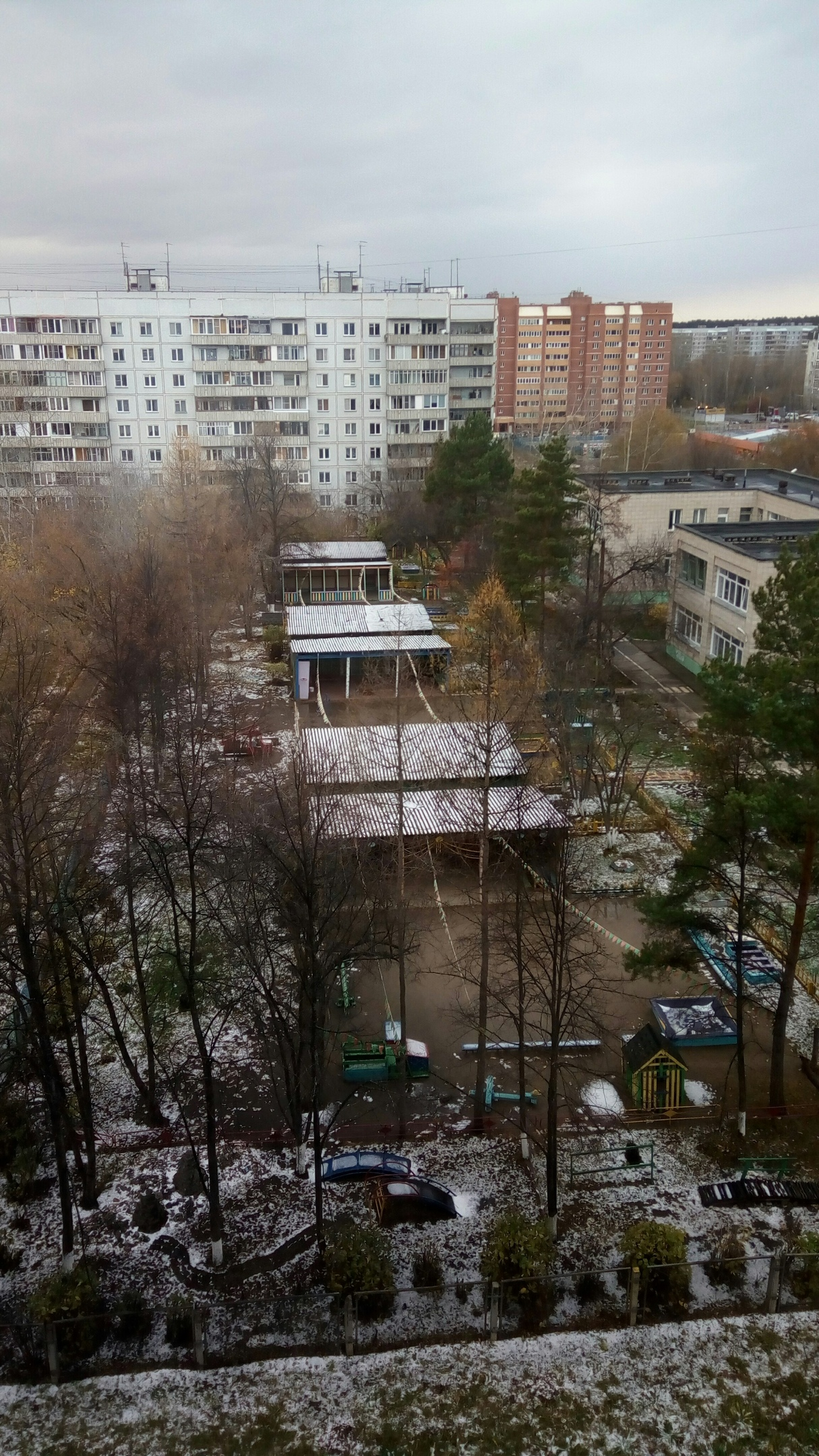 Снег в Ельцовке