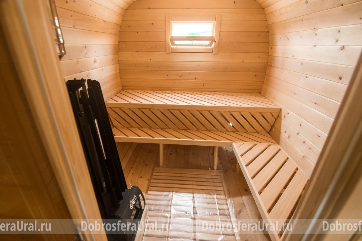 Зимой в бане-бочке будет ничуть не холоднее, чем в привычной бане на фундаменте