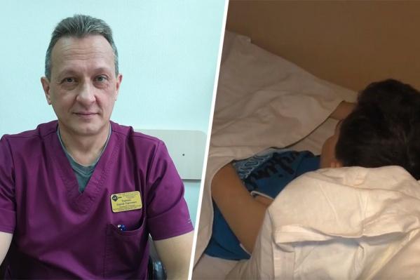 Хирург Сергей Терехин каждый день навещает несовершеннолетнего пациента