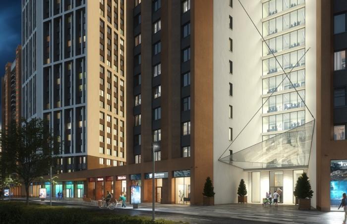 В жилых башнях будет торговая галерея и коворкинг