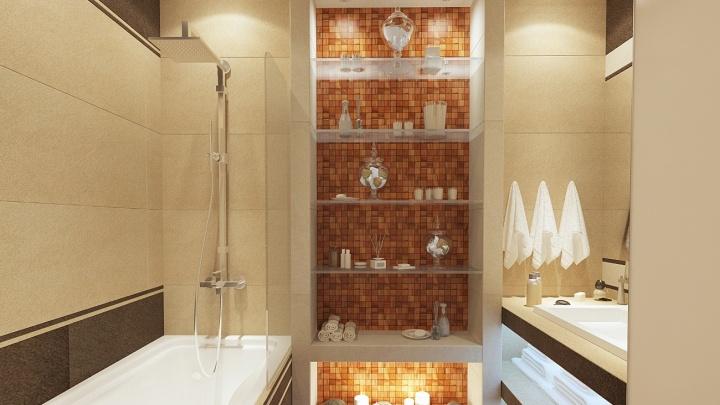 Удачный дизайн ванной комнаты (фото)