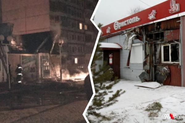 Перед Новым годом в Ярославле сгорело несколько алкомаркетов