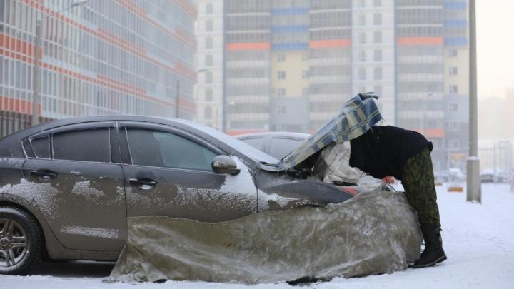 В Красноярск пришел 40-градусный мороз. Как живет город в плену адского холода