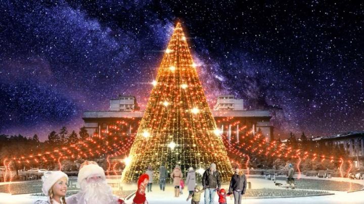 Ёлка, каток и аллея желаний с подсветкой: как планируют преобразить площадь Революции в Новому году