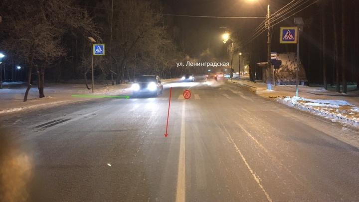 В Академгородке водитель на кроссовере сбил 13-летнюю девочку и скрылся
