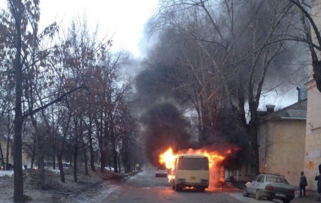 В Уфе утром дотла сгорела маршрутка