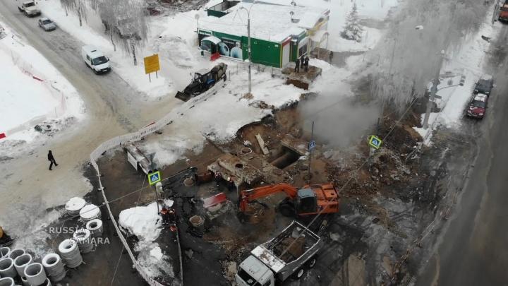 Два котлована: самарец снял с высоты место крупной коммунальной аварии на Стара-Загоре